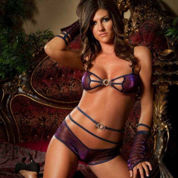 1773835aedb11 3pc Sexy Lingerie Rhinestone Boyshort Set Lot 417. NWT. G World Intimates